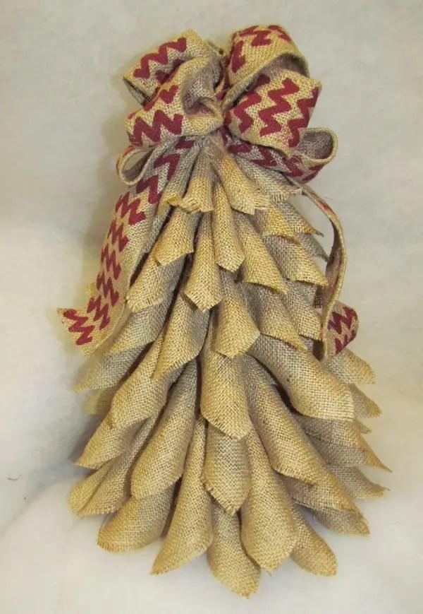burlap christmas tree wreath 15 - Burlap Christmas Tree