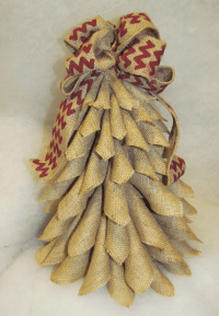 Burlap Christmas Tree Wreath 15