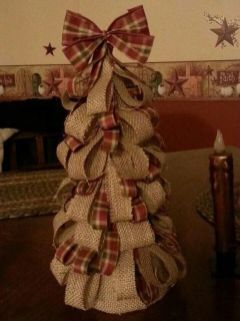 Burlap Christmas Tree Wreath 3