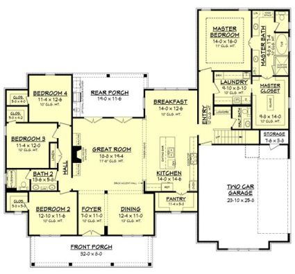 Farmhouse Floor Plans 13