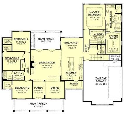 Farmhouse Floor Plans 13