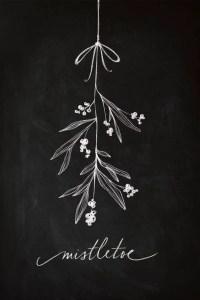 Christmas Chalkboard Art 1