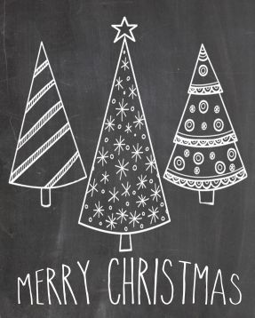 Christmas Chalkboard Art 17