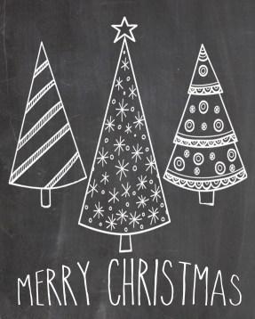 Christmas Chalkboard Art 17