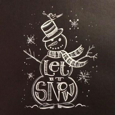 Christmas Chalkboard Art 21