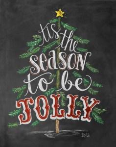 Christmas Chalkboard Art 5
