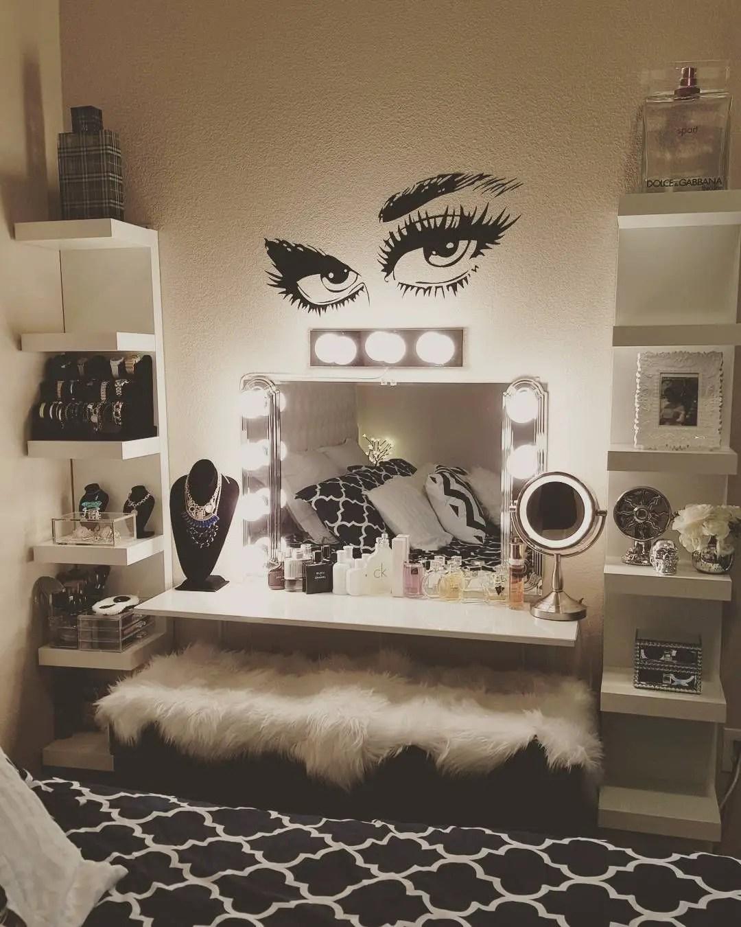 Wonderful Makeup Room Design Ideas Part - 12: Glam Makeup Room 9