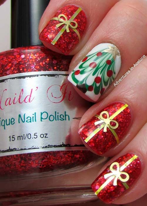 Nails Design Ideas for Christmas 8