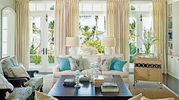 17 elegant and luxury coastal glam decor decoratoo for Classy beach decor