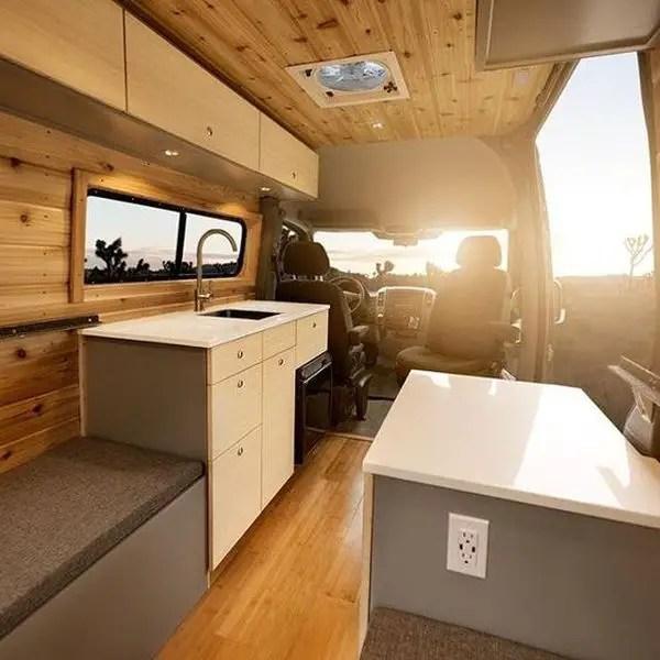15 Tips Fabulous Interior Design For Camper Van - decoratoo