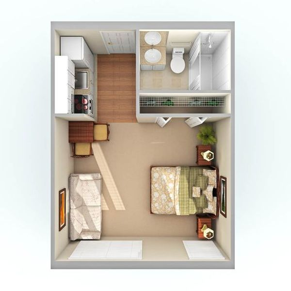 18 Coolest Studio Apartment Layout - decoratoo