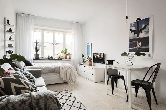 15 Ideas Of Minimalist And Simple One Room Apartment