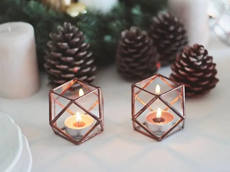 Geometric Decors Wedding Table Ideas