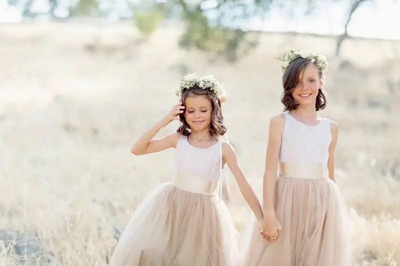 White Color In Flower Girl