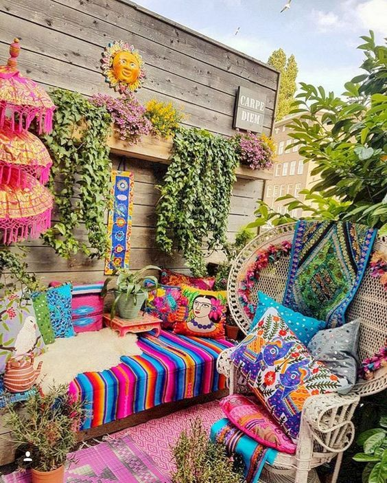 11 Inspired Beautiful Bohemian Patio Ideas To Increase ... on Bohemian Patio Ideas id=88771