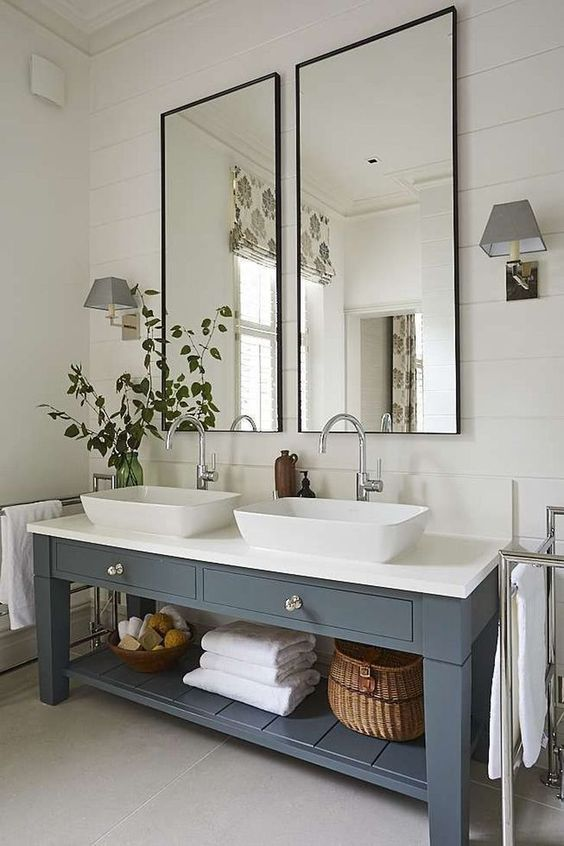 13 Modern Minimalist Beautiful Farmhouse Bathroom Decor