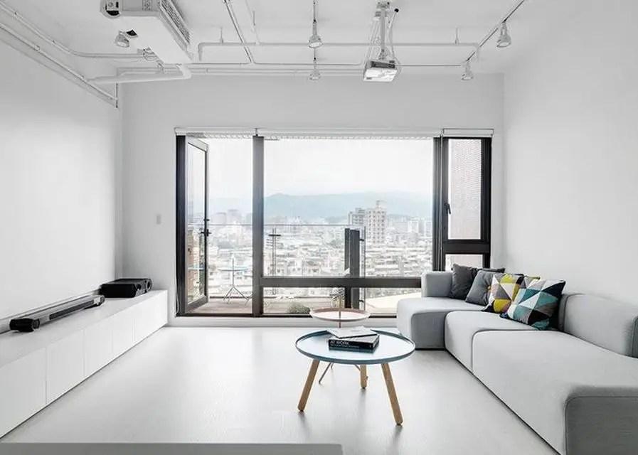 Simple Interior for Modern Minimalist Apartment
