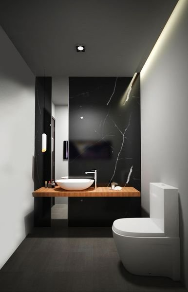 5 Black Marble Bathroom