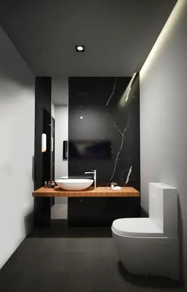 5 Black Marble Bathroom