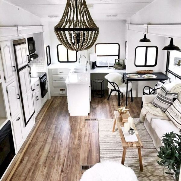 Black And White Camper