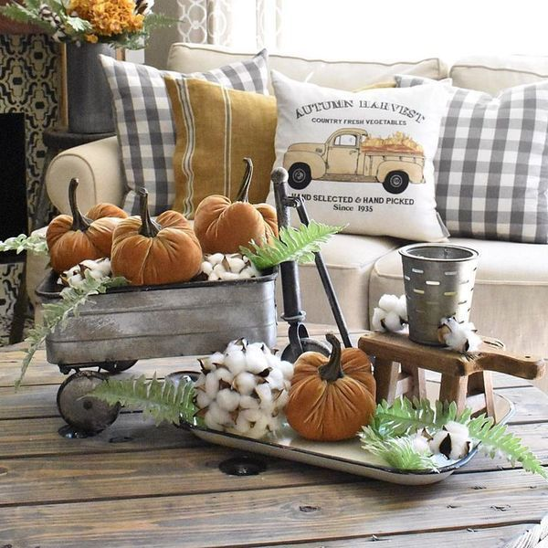 Plaid Fall Pillows