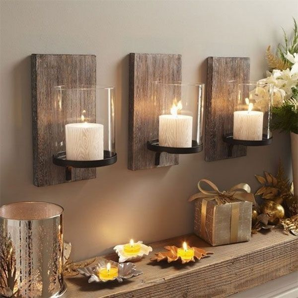 Rustic Wall Sconce Candleholder