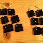 Keyboard Key Earrings