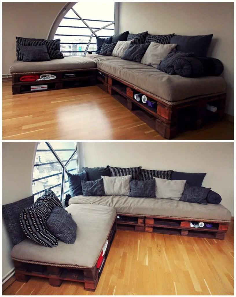 Wooden Pallets Sofa 8