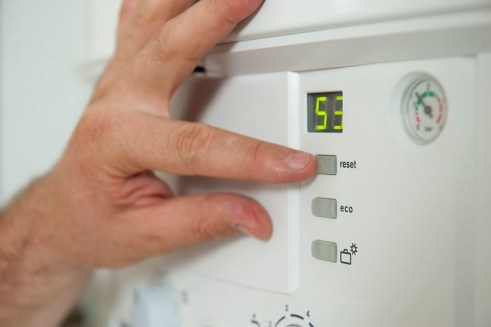 The electric boiler saves space