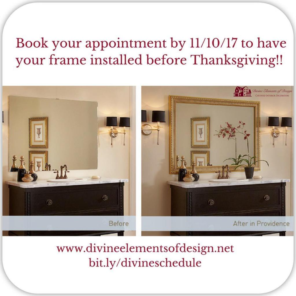 Let us transform your plain mirror into a beautiful focalhellip