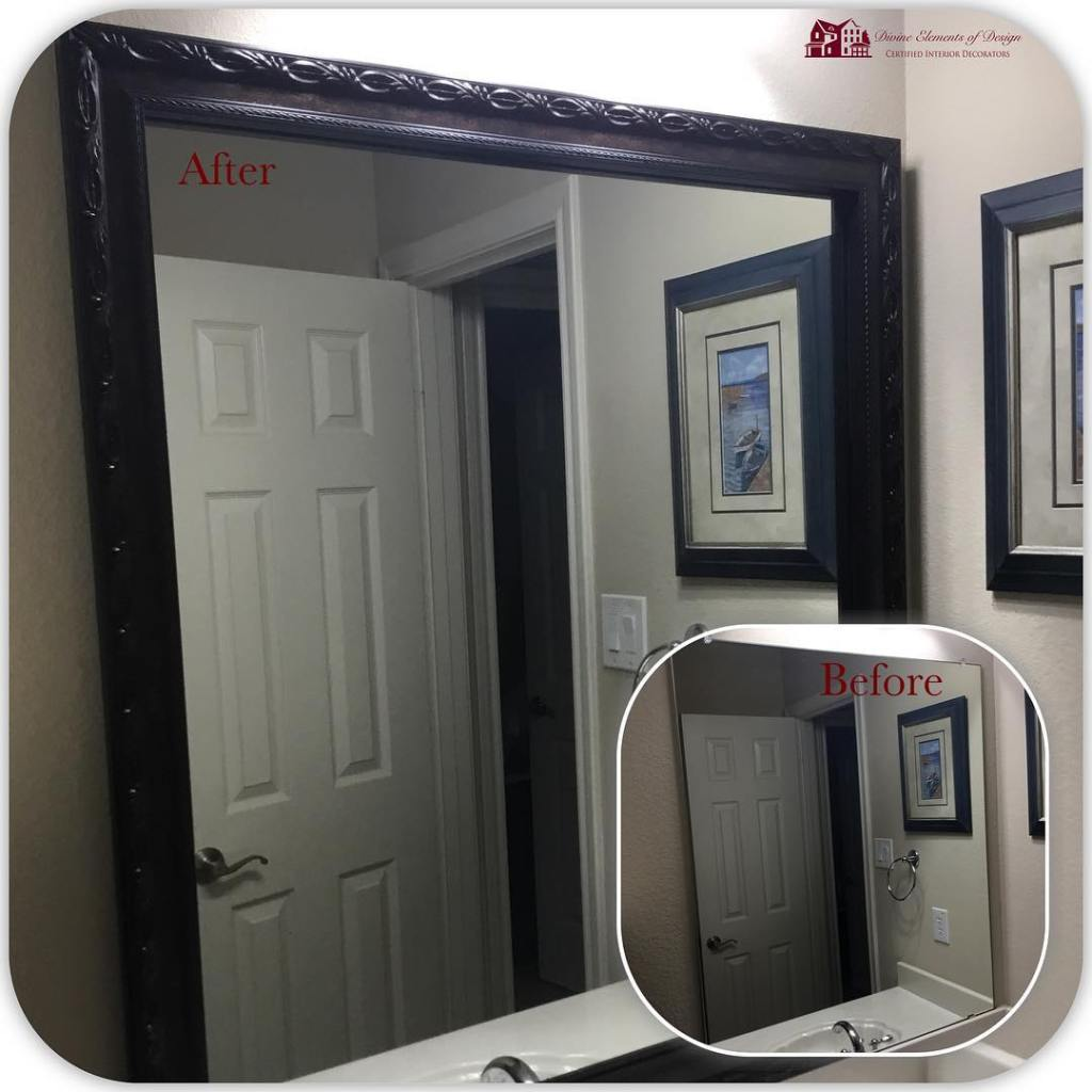 Mirror Makeover Monday! We love this beautiful makeover using thehellip