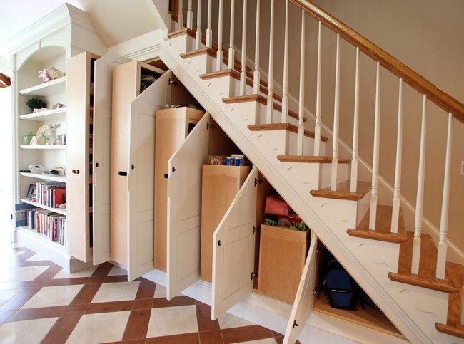A Space Under Stair Shelves Decor Around The World