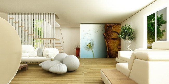 Modern Zen Interior Design Living Room
