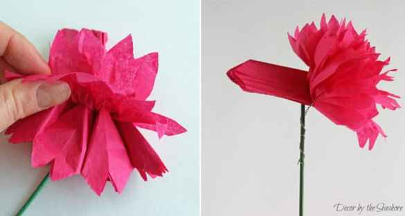 DIY Tissue Paper Flowers Tutorial   Decor by the Seashore These DIY tissue paper flowers are so easy to make  and you probably  already have
