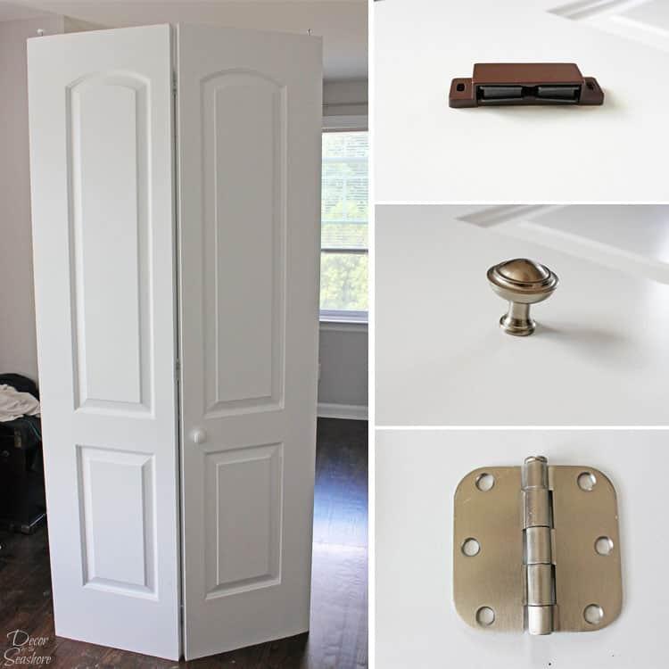 How To Turn A Bi Fold Door Into French Doors Diy Closet
