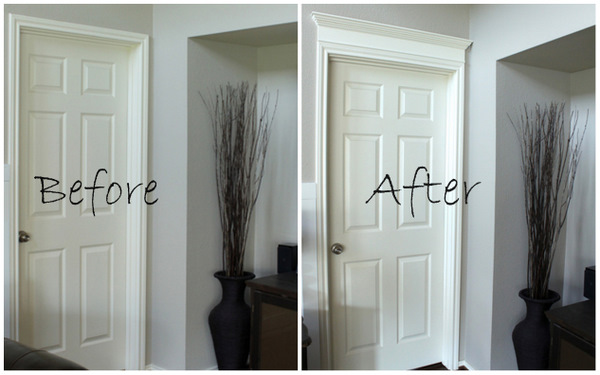 Making Your Doors Pretty With Molding And A How To Decorchick