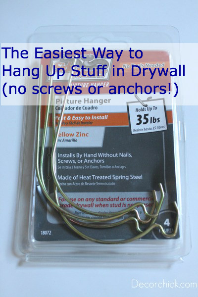 The best trick tool to hang stuff on drywall and sheetrock for What is the best way to hang pictures on drywall