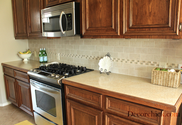 The Kitchen Backsplash Makeover Reveal!