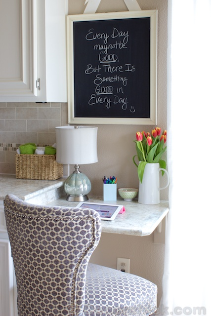 Making The Most Of Your Space: Our New Kitchen Built-In Desk ...