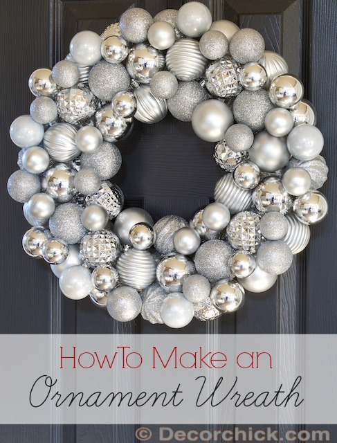 Christmas Ornament Wreath Tutorial | www.decorchick.com
