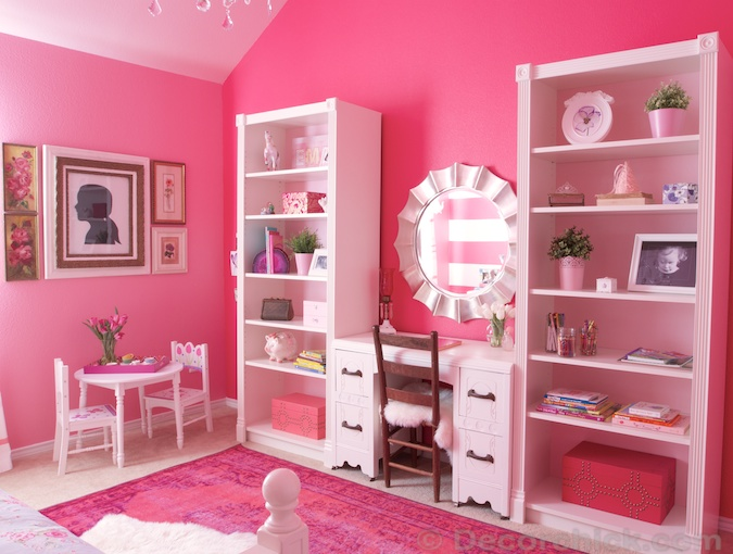 A Dreamy Girl Room Makeover With Hidden Door Bookcase - Decorchick!