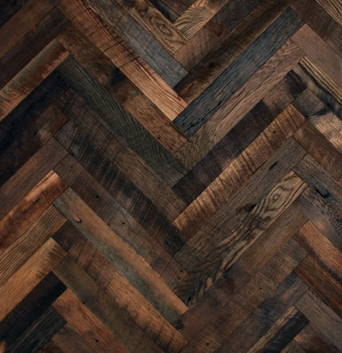 Dream Home Herringbone Pattern Dark Wood Flooring