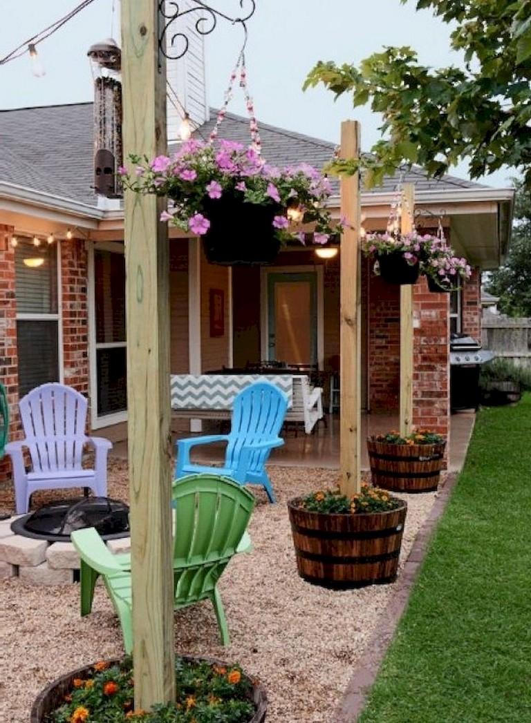 80+ Lovely Easy DIY Backyard Seating Area Ideas on A Budget on Diy Small Patio Ideas id=17735