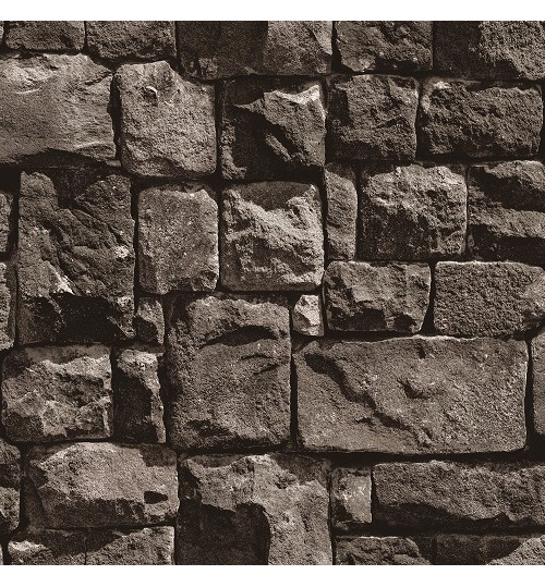 Dark Modern 3D Designer Brick Wallpaper