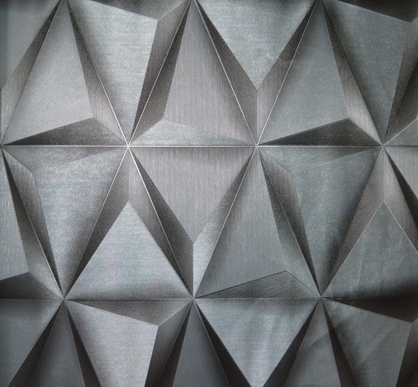 Modern silver prism 3d wallpaper decor city for Silver 3d wallpaper