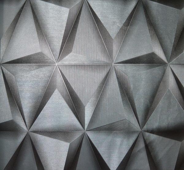 Modern Silver Prism 3D Wallpaper