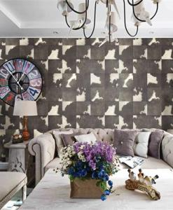 Dark Grey Square Patterned Animal Skin wallpaper DM0602 EFFECT Sold in Nigeria by DecorCity