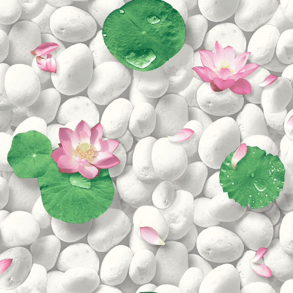Stunning White 3d Pebble Stone Wallpaper Design F216162