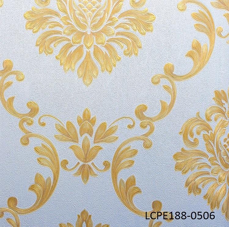 5sqm Gold And White Luxury Damask Wallpaper E188 0506 Decor City