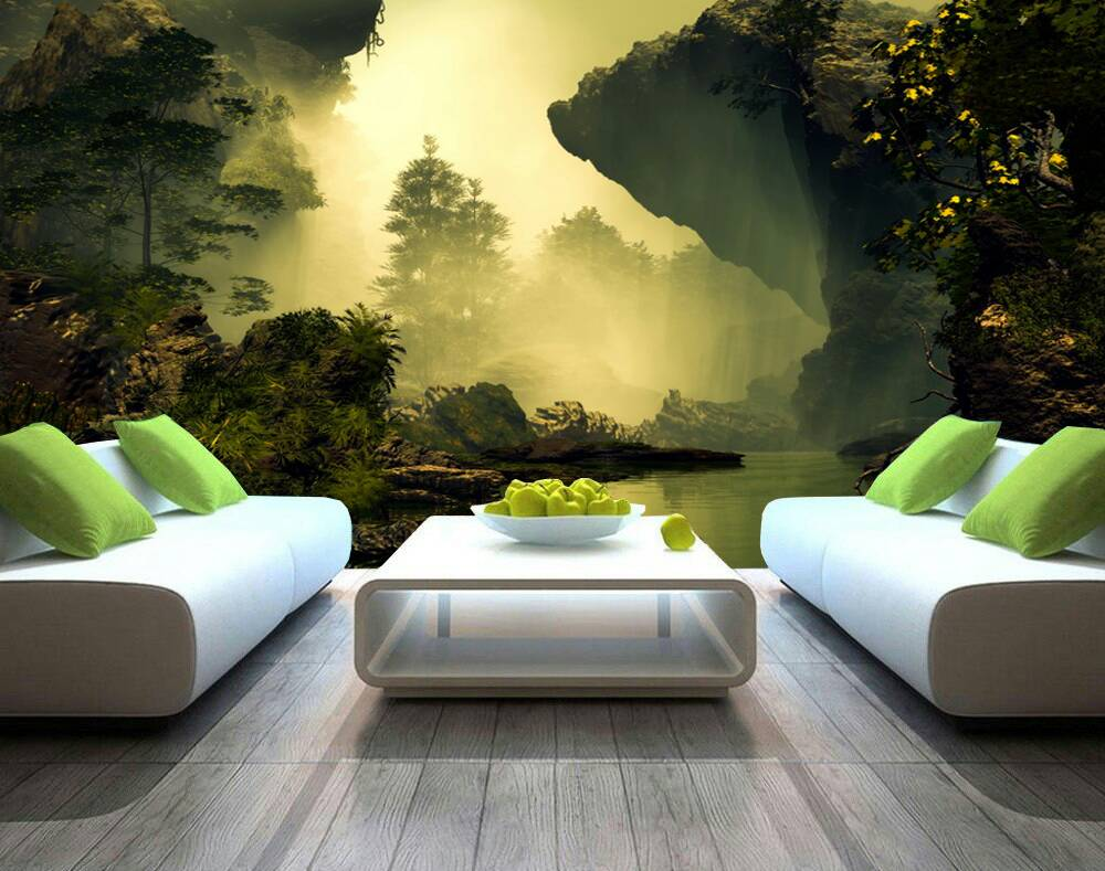 Sunset In The Forest 3d Custom Wall Murals Wallpapers